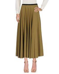 Harris Wharf London Green Long Skirt