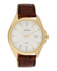 Seiko Brown Wrist Watch for men