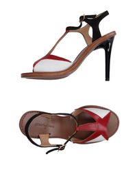L'Autre Chose Red Sandals