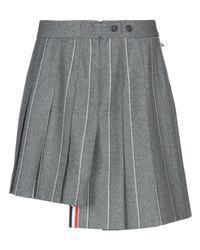 Thom Browne Gray Mini Skirt