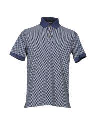 Andrea Fenzi - Blue Polo Shirt for Men - Lyst
