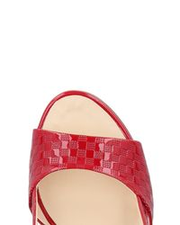 Fabi Red Sandals