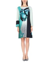 Prabal Gurung Blue Kurzes Kleid