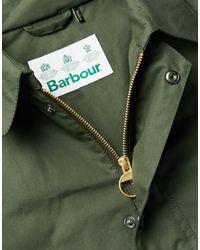 Gabardina Barbour de hombre de color Green