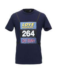T-shirt Love Moschino pour homme en coloris Blue
