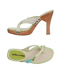 Mila Schon - Natural Toe Strap Sandals - Lyst