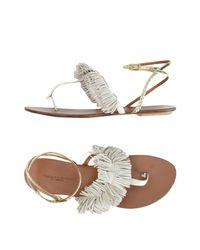 Visconti & Du Réau Gray Toe Strap Sandal