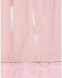 Jupe au genou Maria Grazia Severi en coloris Pink