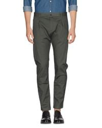 Officina 36 Green Casual Pants for men