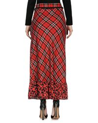 MY TWIN Twinset Red 3/4 Length Skirt