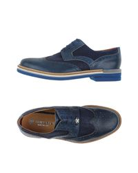 Brimarts Blue Lace-up Shoe for men