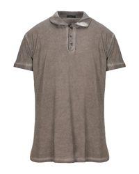 Polo Alessandro Dell'acqua pour homme en coloris Gray