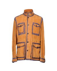 Tod's Orange Overcoat for men