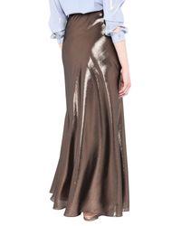 Alberta Ferretti Brown Long Skirt