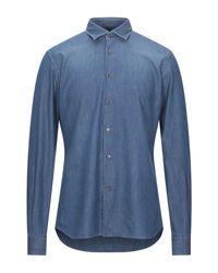 Camicia jeans di Domenico Tagliente in Blue da Uomo