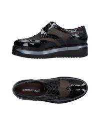 Loretta Pettinari Black Lace-up Shoe
