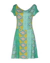 Just Cavalli Green Short Dress