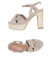 Twin Set Gray Sandals