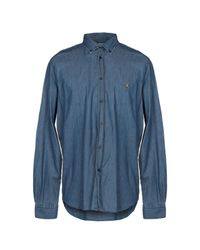 Camicia jeans di Henry Cotton's in Blue da Uomo