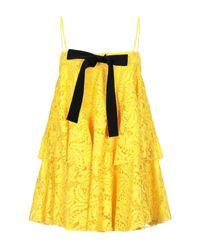 BROGNANO Yellow Kurzes Kleid