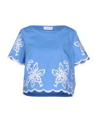 Blouse Maria Grazia Severi en coloris Blue