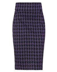 ViCOLO Purple Knee Length Skirt