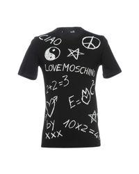 T-shirt di Love Moschino in Black da Uomo