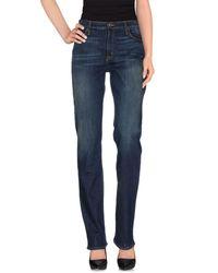Hudson - Blue Denim Trousers - Lyst