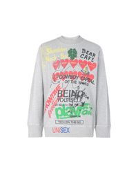 Vivienne Westwood Anglomania Gray Sweatshirt for men