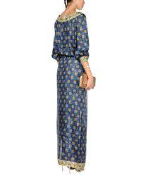Alberta Ferretti Blue Long Dress