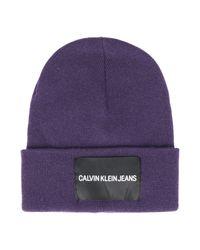 Sombrero Calvin Klein de color Purple