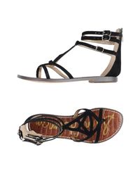 Sam Edelman Black Toe Strap Sandal