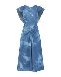 Paper London Blue Midikleid