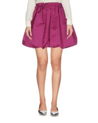 McQ Alexander McQueen Purple Mini Skirt