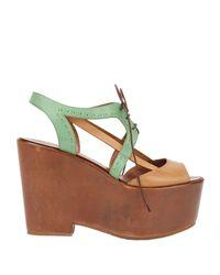 Santoni Green Sandals
