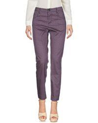 MAX&Co. Purple Casual Trouser