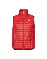North Sails Red Down Jacket for men