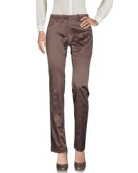 Guess - Brown Casual Trouser - Lyst