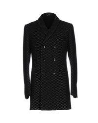 Grey Daniele Alessandrini Black Coat for men