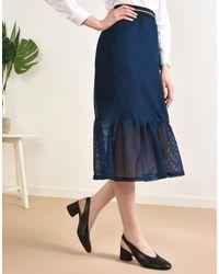 8 Blue 3/4 Length Skirts