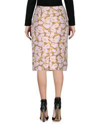 Prada Multicolor Knee Length Skirt