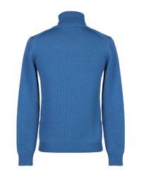 Roberto Collina Rollkragenpullover in Blue für Herren