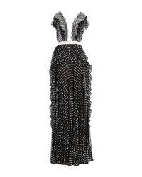 Vestido largo Elisabetta Franchi de color Black