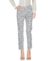 Peserico Gray Casual Pants