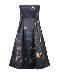 MIRA MIKATI Black Knee-length Dress