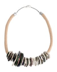 Erika Cavallini Semi Couture - White Necklace - Lyst