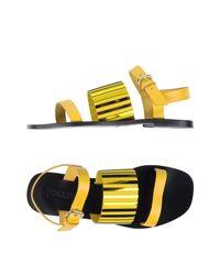 Pollini - Yellow Sandals - Lyst