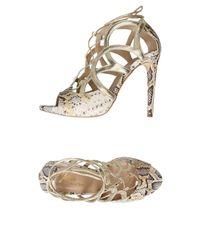 Jolie By Edward Spiers - Metallic Sandals - Lyst