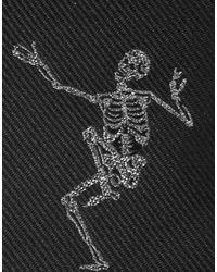 Corbata Alexander McQueen de hombre de color Black