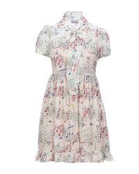 RED Valentino White Kurzes Kleid